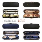 E442959 Ho into wooden boxes violin piano bag backpack lockable space humidity table can hold four violin bow accessories