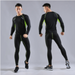P519048 Men's running long sleeve quick-drying stretch tights male sports bottoming tights Workout clothes suit basketball football