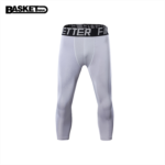 P408093 Cropped pants male basketball high-elastic pants breathable quick-drying sports equipment, fitness bottoming compression pants shorts tide