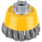 X748532 DEWALT Wire Cup Brush, Knotted, 3-Inch (DW4910)