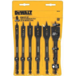 H863176 [관부세포] DEWALT Drill Bit Set, Spade Bits, Assorted, 3/8-Inch to 1-Inch, 6-Piece (DW1587)