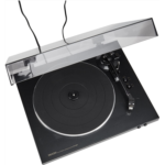 Y858640 [관부세포] Denon DP-300F Fully Automatic Analog Turntable With Built-In Phono Equalizer | Unique Tonearm Design | Hologram Vibration Analysis | Slim Design,Black