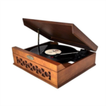 P989312 [관부세포] Pyle Home PVNTT6UMR Vintage Style Phonograph/Turntable with USB-To-PC Connection (Mahogany)