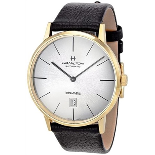 Y538369 [관부세포] Hamilton Intra-Matic Automatic Yellow Gold PVD Mens Watch H38735751