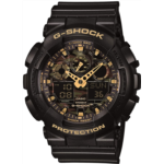 W924749 [관부세포] Casio Men's GA-100CF-1A9CR G-Shock Camouflage Watch With Black Resin Band