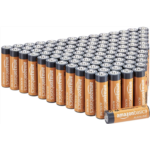 T230357 AmazonBasics 48 Pack AA High-Performance Alkaline Batteries, 10-Year Shelf Life, Easy to Open Value Pack