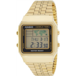 V715162 [관부세포] CASIO Men's Digital World TIME A500WGA-1DF Stainless Steel Watch
