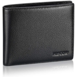 A915474 Bifold Wallet for Men, Italian Supple Genuine Leather Billfold with 3 Credit Card Slots and ID Window