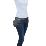 U951042 Eyes of India - Brown Leather Belt Bum Hip Waist Pouch Bag Utility Fanny Pack Pocket Travel