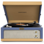L717323 [관부세포] Crosley CR6234A-BT Dansette Junior Portable Turntable with Aux-In, Blue/Tan