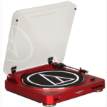 W594770 [관부세포] Audio-Technica AT-LP60 Fully Automatic Belt-Drive Stereo Turntable, Red