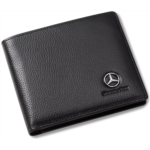 A959798 [관부세포] Mercedes Benz Bifold Wallet with 3 Card Slots and ID Window - Genuine Leather