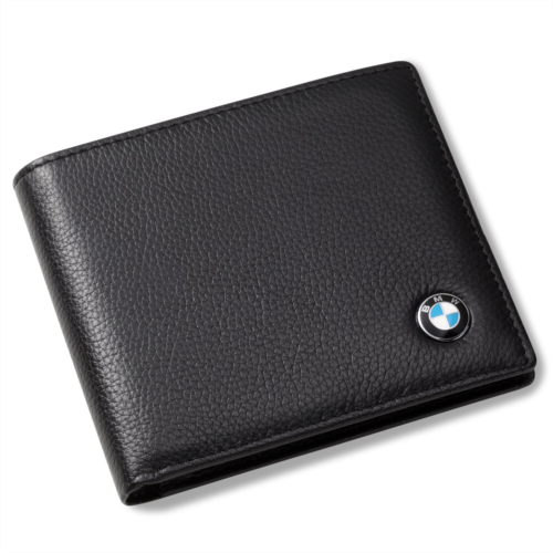 X153357 BMW Bifold Wallet with 3 Credit Card Slots and ID Window - Genuine Leather