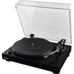 Q183500 [관부세포] Fluance RT81 Elite High Fidelity Vinyl Turntable Record Player with Audio Technica AT95E Cartridge, Belt Drive, Built-in Preamp, Adjustable Counterweight, Solid Wood Plinth - Piano Blac