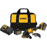 E415704 [관부세포] DEWALT FLEXVOLT 60V MAX Angle Grinder with Kickback Brake Kit, 2 Batteries (DCG414T2)