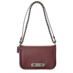 Y323140 COACH Glovetan Coach Swagger Shoulder Bag Dk/Oxblood One Size