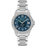 A549072 [관부세포] Bulova Women's Analog-Quartz Watch with Stainless-Steel Strap, Silver, 15 (Model: 96R215)