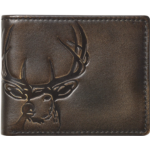 T165148 HOJ Co. DEER Bifold Wallet with Flip ID | Full Grain Leather With Hand Burnished Finish | Extra Capacity Men's Leather Wallet | Deer Wallet…