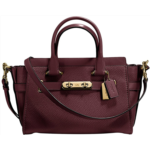 H931814 COACH Womens Coach Swagger Carryall 27 In Pebble Leather