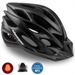 Y644264 Shinmax Bike Helmet,Bicycle Helmet CPSC/CE Certified Adjustable Size Ultralight Adult Cycling Helmet with Visor&Rear Light &Portable Backpack Specialized Cycling Helmet for Men Women SM-UHD