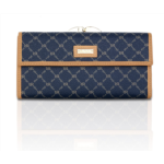 B428381 Rioni Womens Continental Clasp Wallet - Signature Navy
