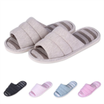 T738800 shevalues Women's Soft Indoor Slippers Open Toe Cotton Memory Foam Slip on Home Shoes House Slippers