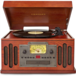 H508125 [관부세포] Crosley CR704D-PA Musician 3-Speed Turntable with Radio, Cd/Cassette Player, Aux-in and Bluetooth, Paprika