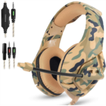 S992416 Gaming Headset Compatible PS4 New Xbox one PC Mac, ONIKUMA Over Ear 3.5mm Headphones with Mic Noise Isolating Deep Bass Surround for Game by AFUNTA -Camouflage