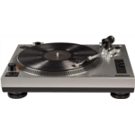 V779113 [관부세포] Crosley K100 Belt-Drive Turntable Stereo System with Bluetooth Speakers, Silver