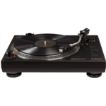B120820 [관부세포] Crosley K200 Direct-Drive Turntable Stereo System with Bluetooth Speakers, Black