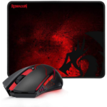 I535981 [관부세포] Redragon M601-WL-BA Wireless Gaming Mouse and Mouse Pad Combo, Ergonomic MMO 6 Button Mouse, 2400 DPI, Red LED Backlit & Large Mouse Pad for Windows PC Gamer (Black Wireless Mouse & Mou