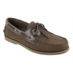 P155550 Rugged Shark Men's Boat Shoe, Classic Look, Premium Genuine Leather, with Odor Control Technology, Size 8 to 13