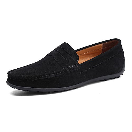 V577491 TSIODFO Men's Driving Penny Dress Loafers Suede Leather Driver Moccasins Slip On Shoes