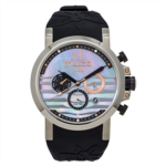 J902882 [관부세포] Mulco Lush Bee Quartz Multifunctional Movement Women's Watch | Premium Mother of Pearl and Swarovski Sundial Display with Rose Gold Accents | Silicone Watch Band | Water Resistant