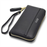 I292706 Cyanb Women Wallets Tassel Bifold Ladies Cluth Wristlet Wrist strap Long Purse