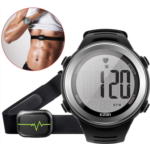 G333059 EZON Heart Rate Monitor Sports Watch with HRM Chest Strap,Waterproof,Stopwatch,Hourly Chime