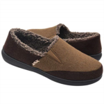 G600320 Zigzagger Men's Wool Micro Suede Moccasin Slippers House Shoes Home Indoor/Outdoor Footwear