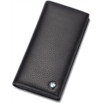 T334511 [관부세포] BMW Bifold Long Wallet with 11 Credit Card Slots and ID Window - Genuine Leather