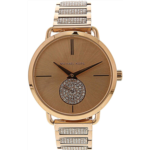 C408526 Michael Kors Women's Portia Three-Hand Rose Gold-Tone Stainless Steel Watch MK3853
