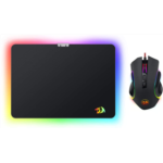 N645566 [관부세포] Redragon M602-BA Gaming Mouse and Mouse Pad Combo, Wired RGB Backlit, Ergonomic Mouse Griffin with 7 Backlight Modes, 7200 DPI & Large Mouse Pad for Windows PC Gamer (Black Mouse & Mous
