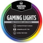 D663586 KontrolFreek Gaming Lights: LED Strip Lights, USB Powered with Controller, 3M Adhesive for TV, Console, PC, Wall (9 ft)