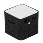 F541284 Softmusic Portable Cubic Colorful LED Light Stereo Mini Bluetooth Speaker TF Wireless MP3 Player Blue