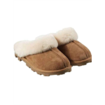 L408441 KS Kirkland Women's Sheepskin Shearling Slippers (8, Khaki)