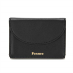 S733141 Fennec Women's Half moon Mini Wallet Card case Coin Purse Cow leather Unisex