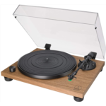 Y168131 [관부세포] Audio-Technica AT-LPW40WN Fully Manual Belt-Drive Turntable, 2 Speeds, Dynamic Anti-Skate Control, Carbon-Fiber Tonearm