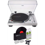 H997237 [관부세포] Audio-Technica AT-LP120XUSB Direct-Drive USB Turntable (Silver) with Knox Gear Vinyl Record Cleaner Kit