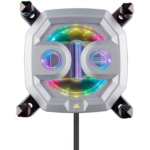 T761168 [관부세포] CORSAIR Hydro X Series,XC9 RGB CPU Water Block,16 Individually-addressable RGB LEDs,Software-Enabled,2066/sTR4