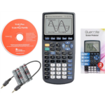 N254764 Texas Instruments TI 83 Plus Graphing Calculator, with Guerrilla Military Grade Screen Protector Set, Certified Reconditioned