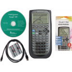 T147722 Texas Instruments TI 89 Titanium Graphing Calculator with Guerrilla Military Grade Screen Protector Set, Certified Reconditioned