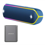 O986878 Sony XB32 Extra Bass Portable Bluetooth Speaker (Blue) with Ultra Portable 5,000 mAh Battery Pack (2 Items)